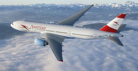 Austrian Airlines B777, Paine Field WA USA