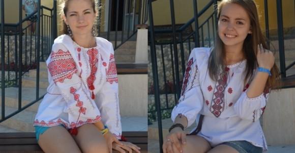 Дарина й Софія у вишиванках у День прапора