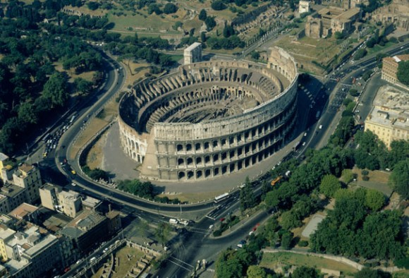 Colosseum aerial view