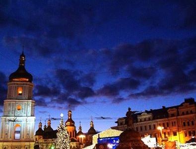 Киев. Предновогодняя Софиевская площадь