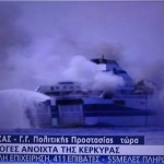 Hundreds trapped as ferry burns in heavy seas off Greece. Photos