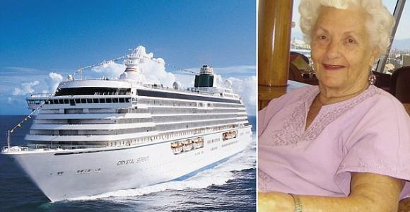 Круизный лайнер Crystal Serenity и его многолетняя пассажирка Мама Ли