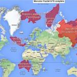 Развлечения с географическими картами. Каков реальный размер Украины и почему Россия меньше, чем кажется