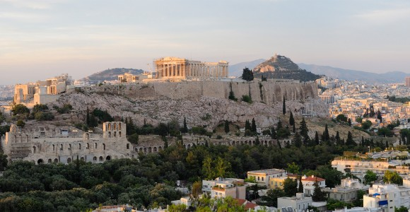 The Acropolis in Athens, Greece
