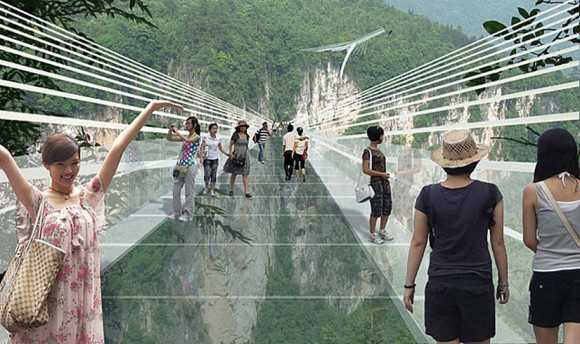 China glass bridge Zhangjiajie National Forest Park (1)