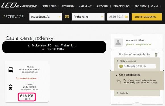 Leo Express_Mukachevo_Praha