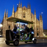TheGustibus: Electric cycle rickshaw with wines and food in Milan