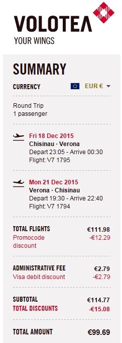 Загальна ціна квитків в обидва боки - менше 100 євро