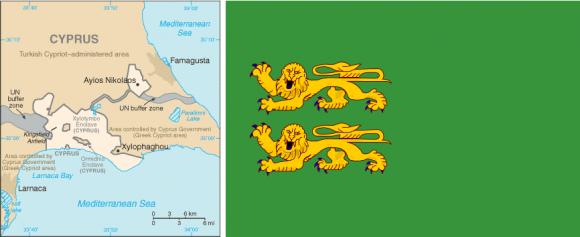 База Декелія на карті та її прапор
