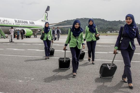 Rayani Air stewardess 3