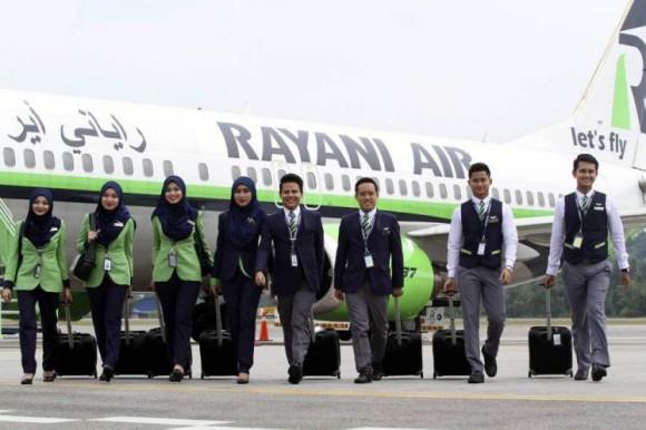 Rayani Air stewards. Photo by EPA