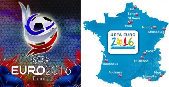 UEFA Euro 2016 France map