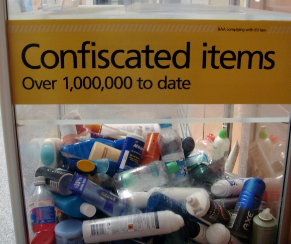 confiscated liquids