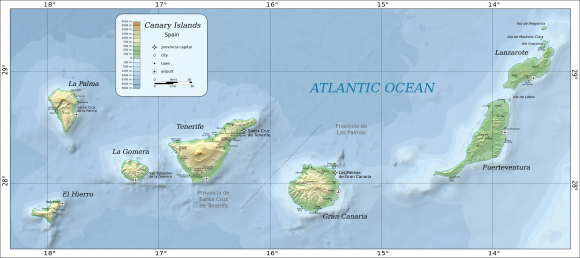 Canary Islands — map
