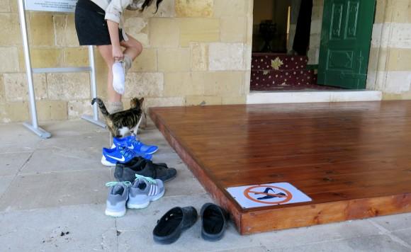 Larnaca Solt Lake - walk around - mosque Tekke shoes