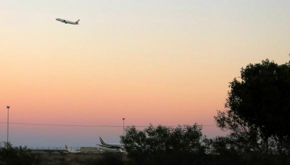 Larnaca Solt Lake - walk around - plane