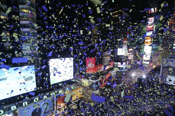 New Year Eve 2016 celebration - New York Times square