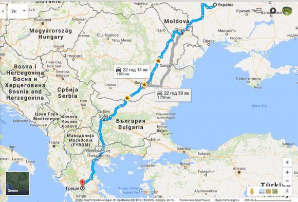Ukraine-Greece-map