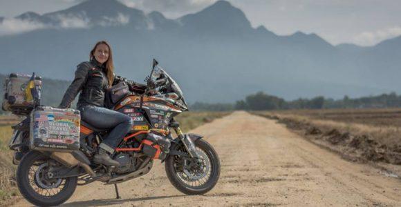 anna-grechishkina-female-biker-on-the-road