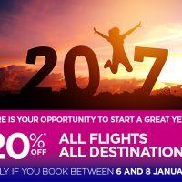Первая крупная акция Wizz Air в 2017-м: рождественские скидки -20% на все билеты!