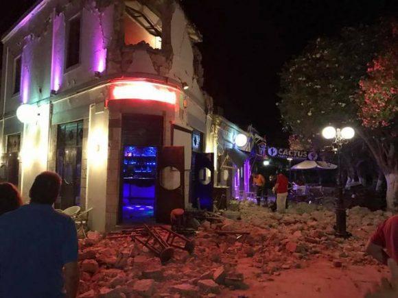 землетрус Кос - руйнування