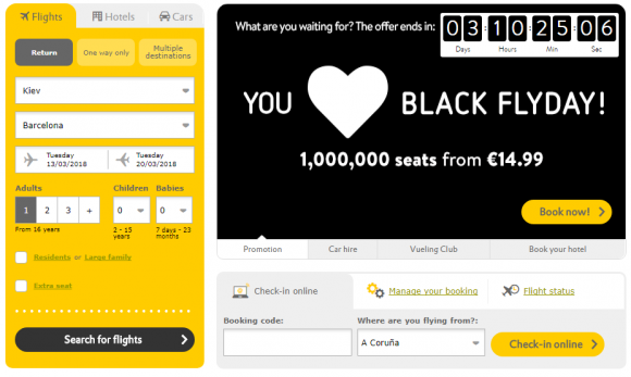 Vueling Black Friday