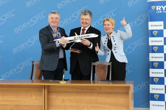 Майкл О'Лірі - Ryanair - Петро Порошенко і Тетяна Романовська - АП