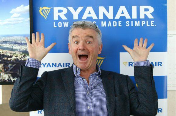 Майкл О'Лірі, Ryanair, у Києві. Фото: Новинарня
